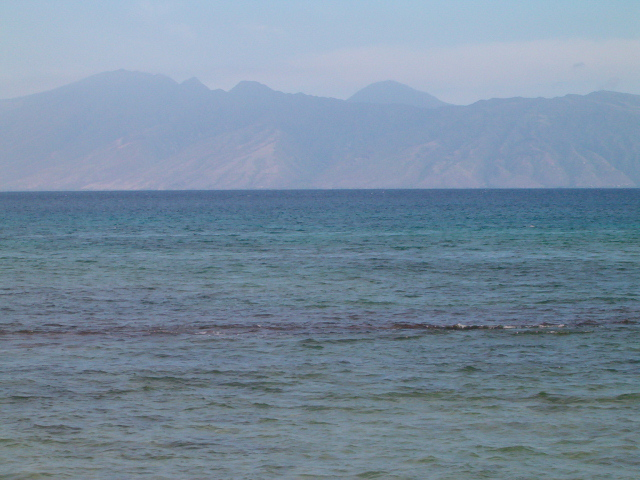 Island of Molokai from Papakea Beach