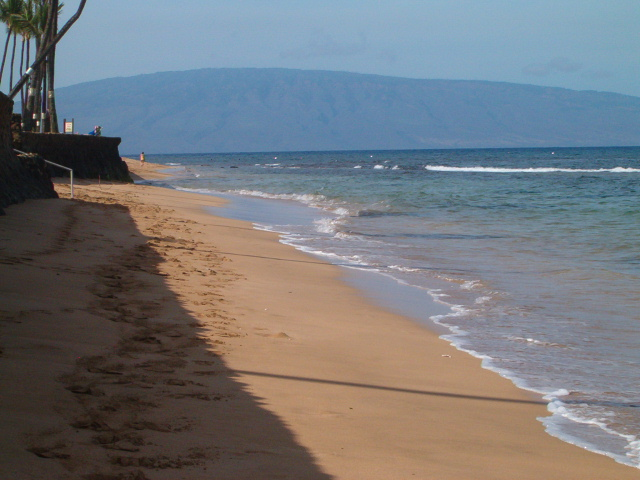 Island of Lana'i from Papakea Beach